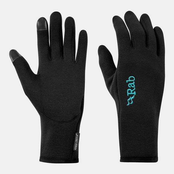Rab Womens Power Stretch Contact Glove Black