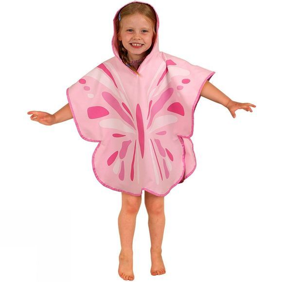 LittleLife Ultralight Poncho Towel Small Butterfly