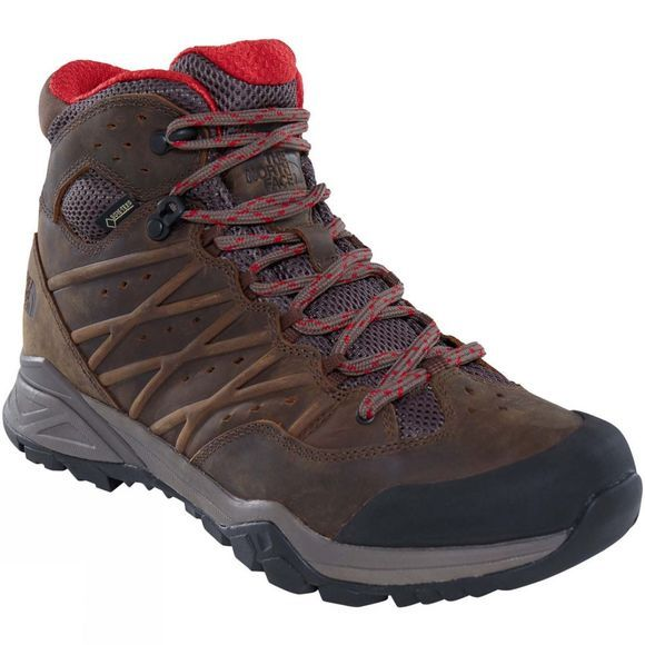 The North Face Mens Hedgehog Hike II GTX Mid Boot Bone Brown/Rage Red