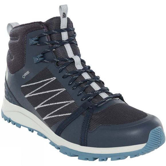 The North Face Mens Litewave Fastpack II Mid GoreTex Boots Urban Navy/High Rise Grey