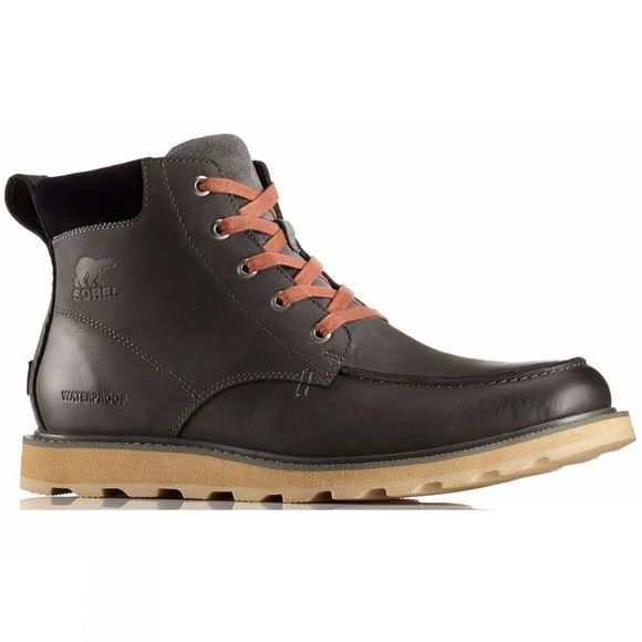 Sorel Mens Madson Moc Toe Waterproof Boots Grill