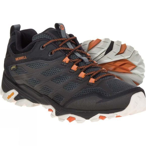 Merrell Mens Moab FST Gore-Tex Shoe Black/Orange
