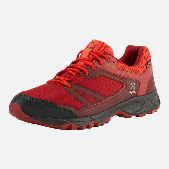 Haglofs Mens Trail Fuse GT Shoe Maroon red/habanero