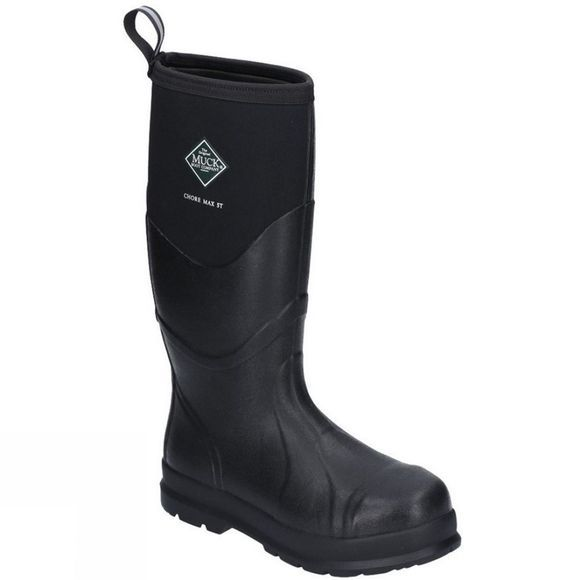 Muck Boot Mens Chore Max Safety Wellington Black