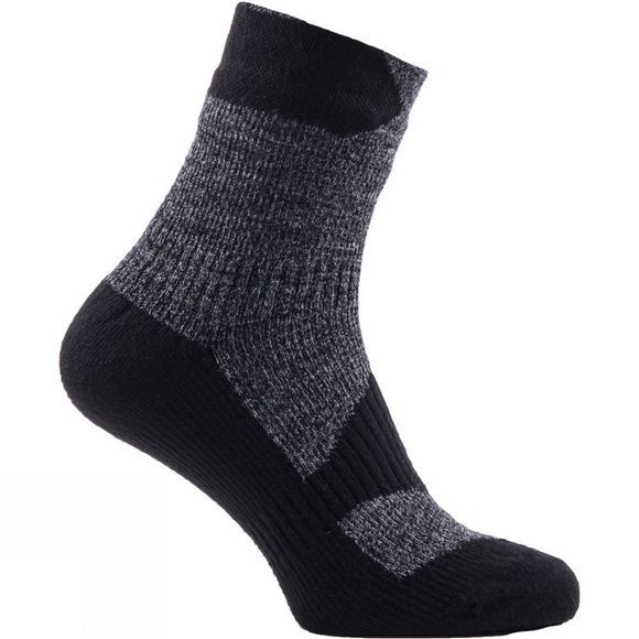 SealSkinz Men's Walking Thin Ankle Socks  Grey Marl/Dark Grey