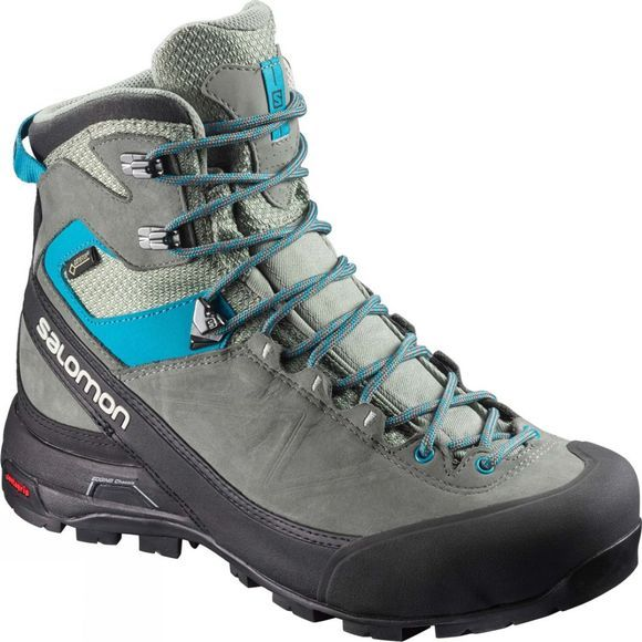 Salomon Womens X Alp Mtn Gtx Boot Shadow/Castor Gray/Enamel Blue
