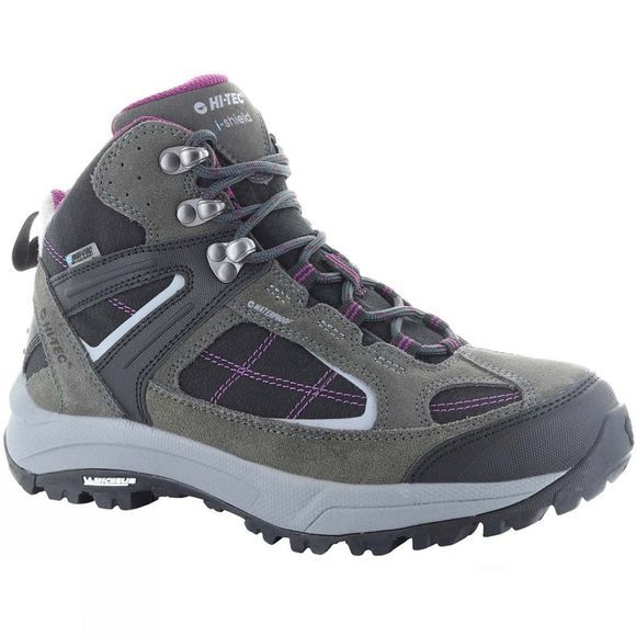 Hi-Tec Womens Altitude VI Lite II Mid I Boot Charcoal/Black/Amaranth