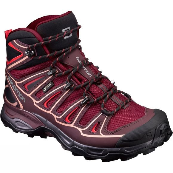 Salomon Women's X Ultra Mid 2 Gore-Tex Tibetan Red/Fig/Peach