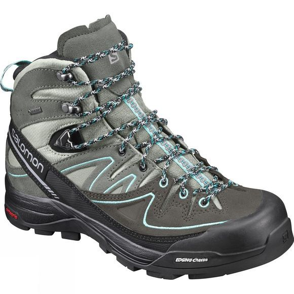 Salomon Womens X Alp Mid Ltr GTX Shadow/Aruba Blue