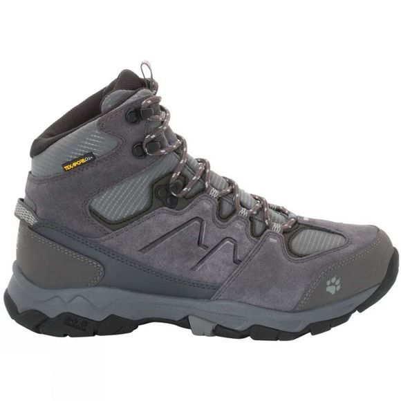 Jack Wolfskin Mens Mountain Attack 6 Texapore Mid Boot Grey Haze