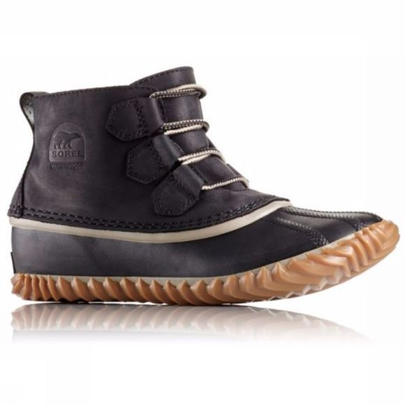 Sorel Womens Out N About Leather Boot Black