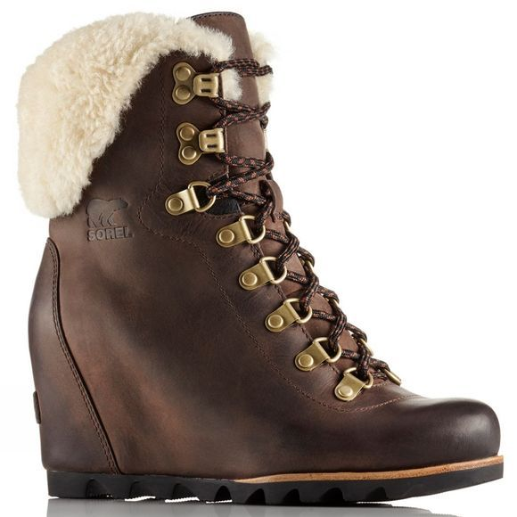 Womens Conquest Wedge Shearling Boots