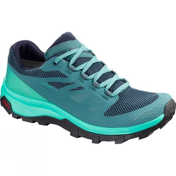 Salomon Womens Outline GTX Shoe Hydro/Atlantis/Medieval Blue