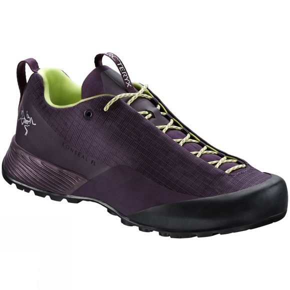 Arc'teryx Womens Konseal FL Approach Shoes Purple Reign/Lumen Lime