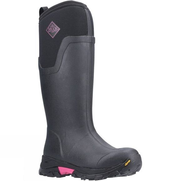 Muck Boot Womens Arctic Ice Tall Extreme Conditions Sport Boot Black/Hot Pink
