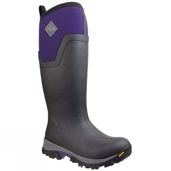 Muck Boot Womens Arctic Ice Tall Extreme Conditions Sport Boot Black/Parachute Purple
