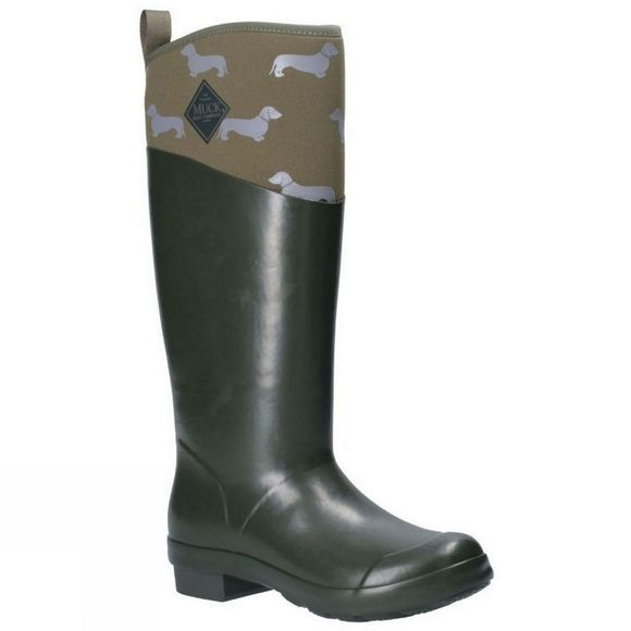 Muck Boot Womens Emily Bond Tremont Tall Boot Green/Green Dog