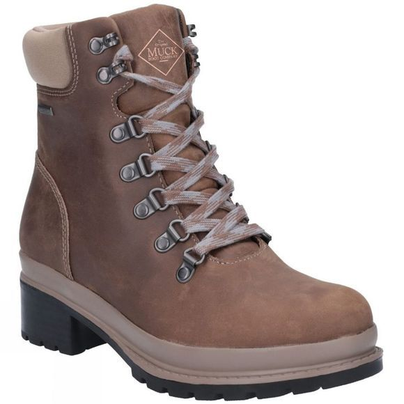 Muck Boot Womens Liberty Alpine Lace Up Ankle Boot Taupe