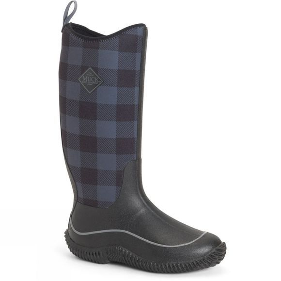 Muck Boot Womens Hale Wellington Black/Grey Plaid