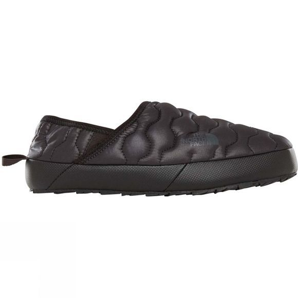 The North Face Womens Thermoball Traction Mule IV Slippers Shiny TNF Black/ Beluga Grey