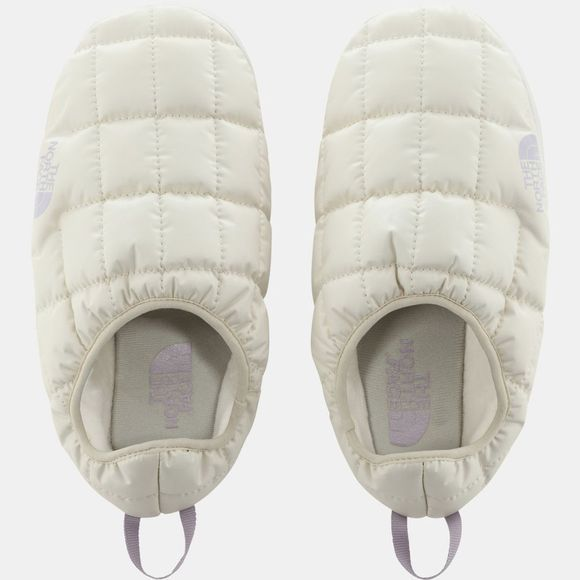 The North Face Womens ThermoBall Eco Tent Mule V Slipper Vintage White/Iris Lavender