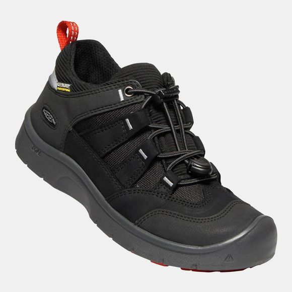 Keen Youth Hikeport Waterproof Shoes 14+ Black/Bright Red