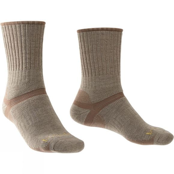 Bridgedale Men's Merino Hiker Sock Oatmeal/Coffee
