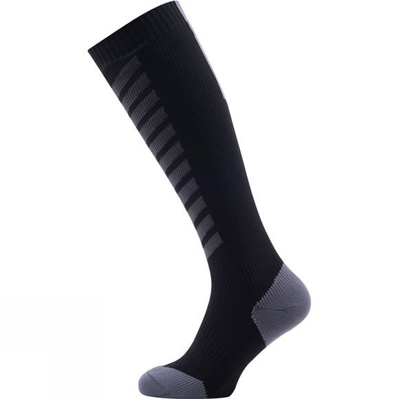 SealSkinz Hiking Mid Knee Sock Black/Anthracite/Charcoal