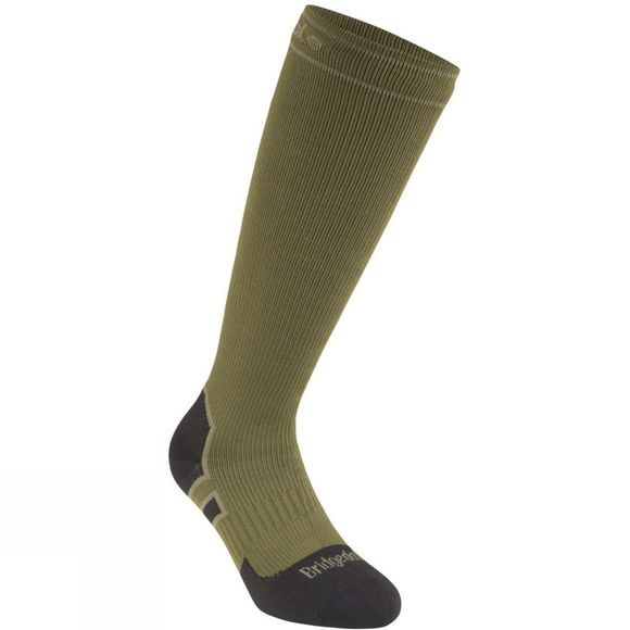 Bridgedale Heavyweight Knee Length Stormsock Olive/Black