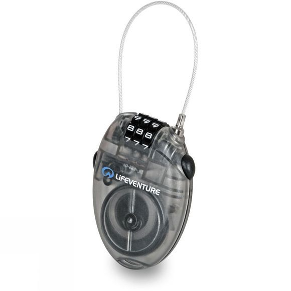 Lifeventure Mini Cable Lock Black / Clear