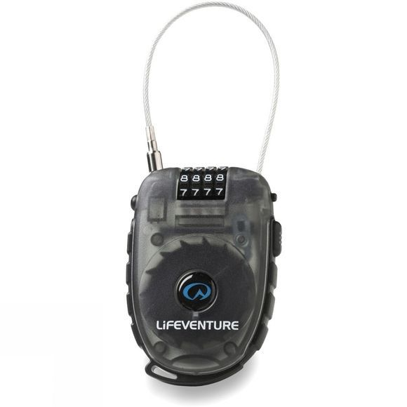 Lifeventure Cable Lock Black / Clear