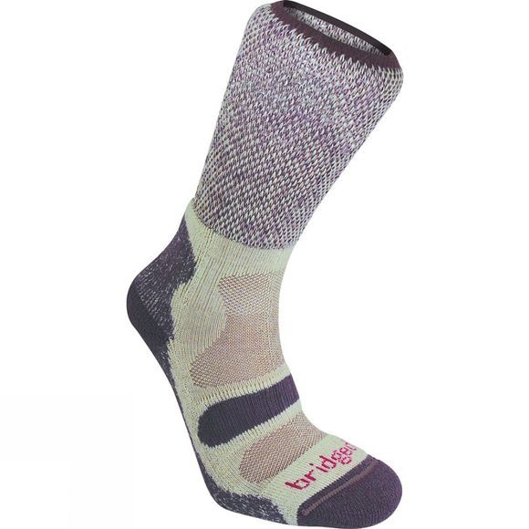 Bridgedale Womens Lightweight Cotton Comfort Sock Plum