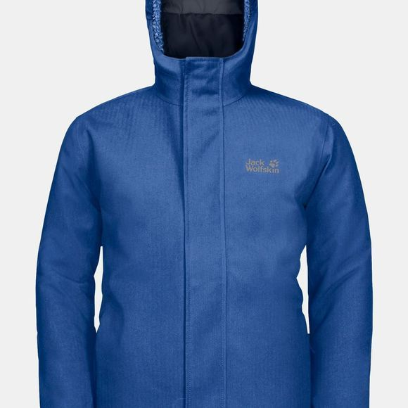 Jack Wolfskin Childrens Drei Berge 3In1 Jacket Coastal Blue