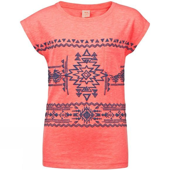 Protest Girls Foxey Junior T-Shirt Coral
