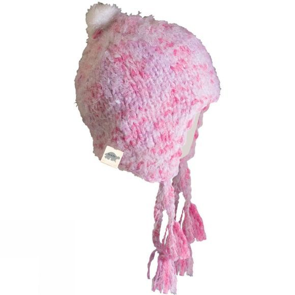 Turtle Fur Jewel Hat Pale Pink/Deep Pink