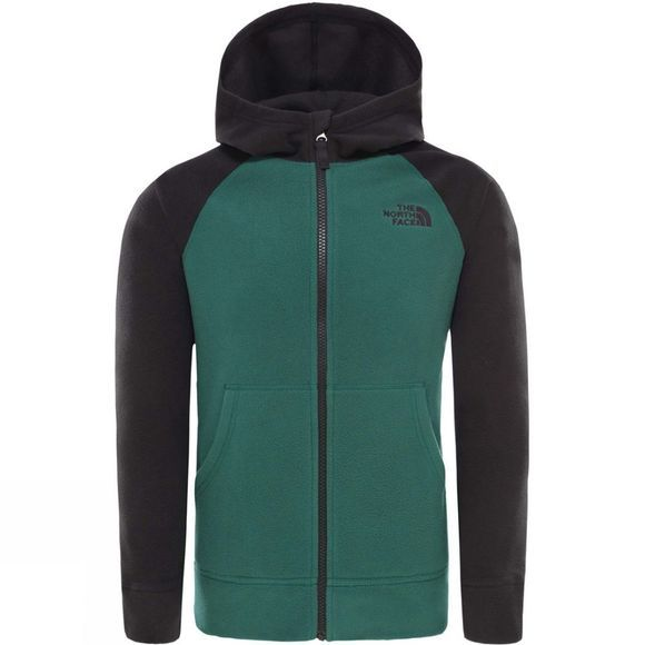 The North Face Boys Glacier Full Zip Hoodie Night Green