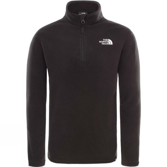 The North Face Kids Glacier 1/4 Zip Fleece Black/White