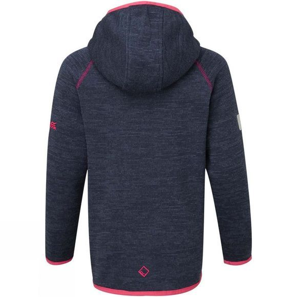 Regatta Kids Dissolver II Full Zip Hooded Fleece Navy/Pink As Ss18