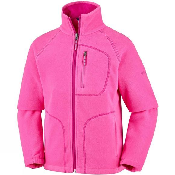 Columbia Boy's Fast Trek II Full Zip Fleece Wild Geranium,