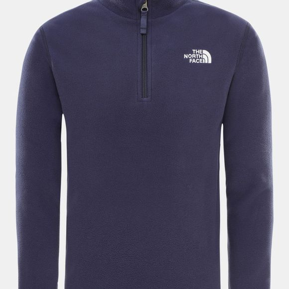 The North Face Youths Glacier 1/4 Zip Fleece Age 14+ Montague Blue