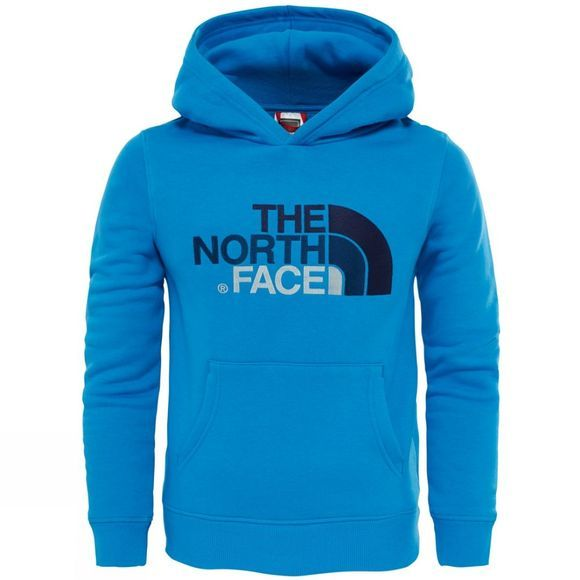The North Face Youths Drew Peak Pullover Hoodie Age 14+ Clear Lake Blue