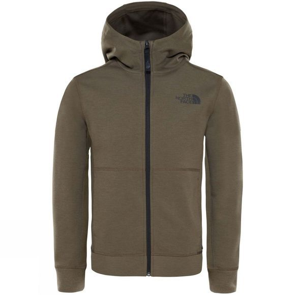The North Face Boys Slacker Hoodie Age 14+ New Taupe Green