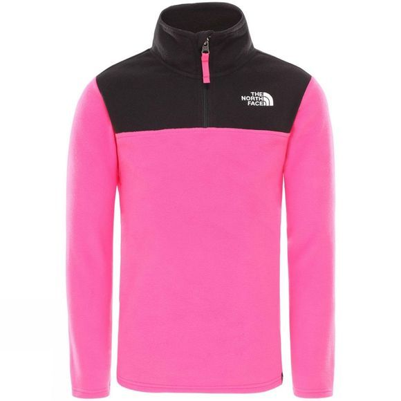 The North Face Youth Glacier Blocked 1/4 Zip Fleece 14+ Mr. Pink