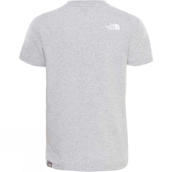 The North Face Youths Simple Dome T-Shirt Light Grey Heather/TNF White