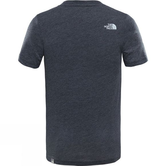 The North Face Youths Simple Dome T-Shirt TNF Dark Grey Heather/Highrise Grey