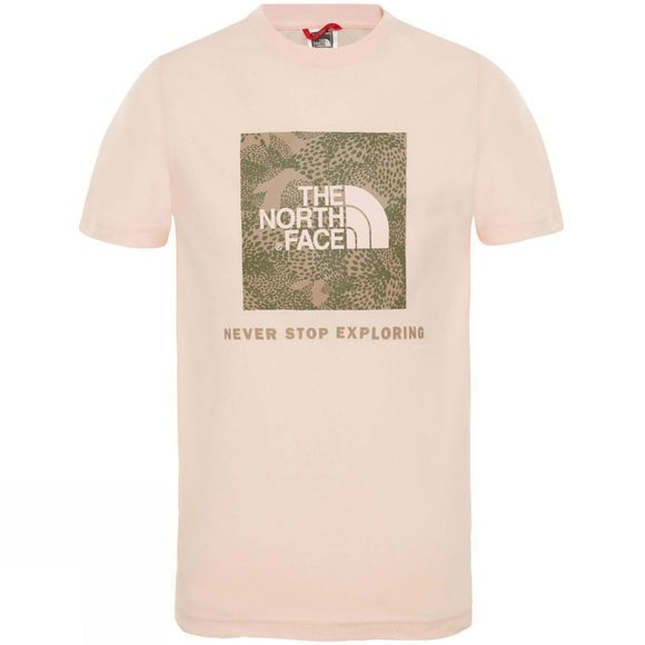 The North Face Youth Box SS Tee Pink Salt