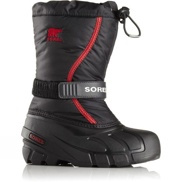 Sorel Youth Flurry Age 14+ Black/ Bright Red