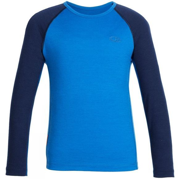 Icebreaker Kid's Oasis  Long Sleeve Crew Cadet/ Midnight
