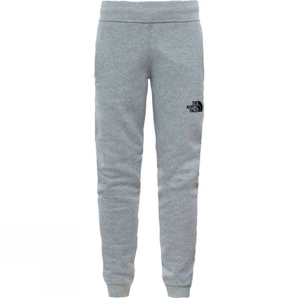 The North Face Youths Fleece Pant Age 14+ TNF Flight Grey Heather/Atomic Pink