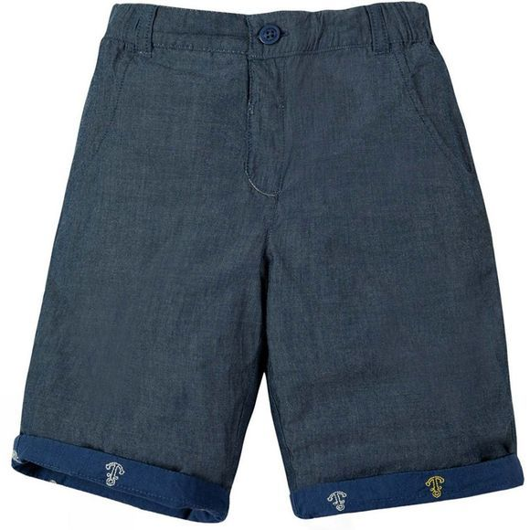 Frugi Childrens Ralph Reversible Shorts Marine Blue Anchors SS19